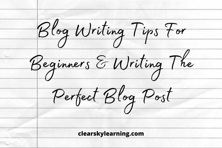 Blog Writing Tips For Beginners | Writing The Perfect Blog Post